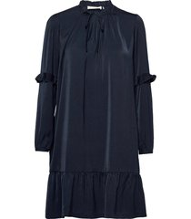 recycle polyester dress ls kort klänning blå rosemunde