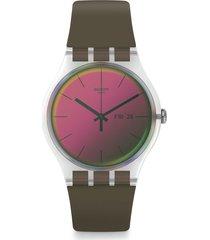 reloj swatch unisex polarmy/suok714 - verde