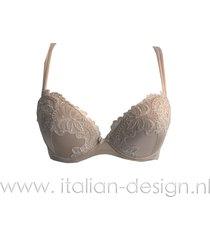 ambra lingerie bh's titanium push-up bh huid 0438
