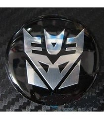 tyre wheel center hub cap aluminium emblem badge transformers decepticon