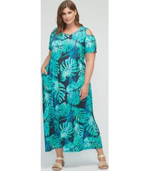 winthrop forest open-shoulder maxi dress (with pockets)