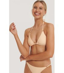 na-kd swimwear detail triangle bikini top - orange