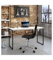 mesa de escritório studio branca 135 cm