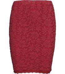 skirt kort kjol röd rosemunde