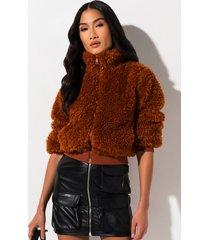 akira fuzzy feelings fur jacket