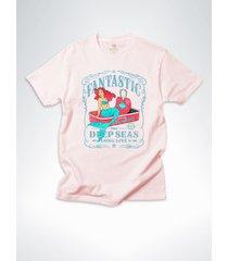 camiseta surf cool tees sereias em conserva salmao