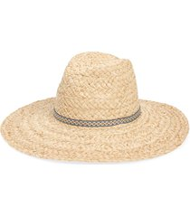 women's treasure & bond braided straw panama hat - beige