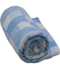 cobertor infantil antialã©gico 1,10m x 90cm camesa azul - azul - dafiti