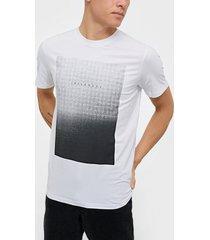 selected homme slhpima print ss o-neck tee b ex t-shirts & linnen vit