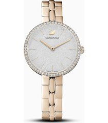 orologio cosmopolitan, bracciale di metallo, bianco, pvd tonalitã oro champagne