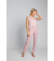 pyjama's / nachthemden lalupa la025 viscose pyjamabroek - roze