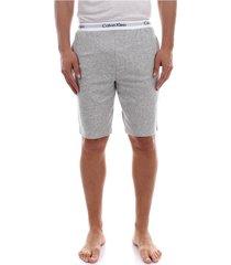 calvin klein 000nm1358 short shorts and bermudas longwear men grey heather