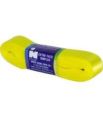 fita de cetim nº05 22mm peça com 10m amarelo canário