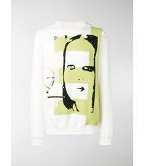 rick owens drkshdw patch printed sweatshirt