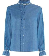 fabienne chapot mimi blouse denim blue