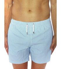 bertigo men's mini dot swim shorts - blue - size xl