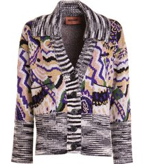 patterned knitted jacket