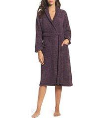 women's barefoot dreams cozychic unisex robe, size 3 - purple