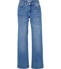 jeans elasticizzati open end denim wide leg (blu) - john baner jeanswear