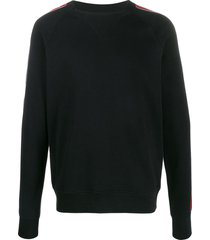 balmain side panel sweatshirt - black