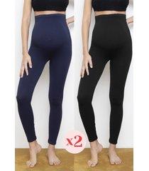 confezione da 2 leggings premaman - legging seamless