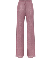 cap prisca knitted flared trousers - purple