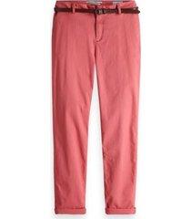 roze dames chino maison scotch - 149951