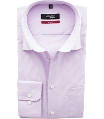 seidensticker modern overhemd paars