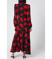 de la vali women's clara dress - spanish rose - uk 8