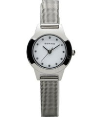 bering ladies classic stainless steel mesh watch