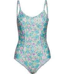 mansion swimsuit baddräkt badkläder blå résumé