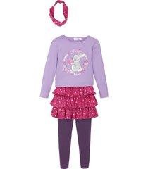 topp, kjol, leggings och hårband för flickor (4 delar)