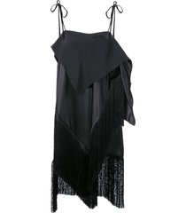 marques'almeida long fringed tunic - black