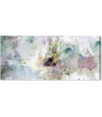 "oliver gal teal tie dye canvas art - 20"" x 45"" x 2"""