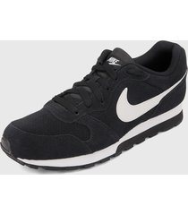 tenis lifestyle negro-blanco nike md runner 2 suede