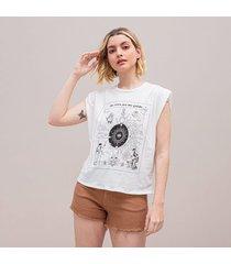 camiseta amplia corta manga sisa happy