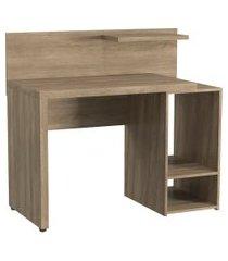mesa escrivaninha 2 prateleiras kappesberg home urban s973 nogal