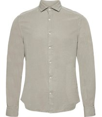 comfort tencel slim shirt skjorta casual grön j. lindeberg
