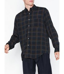 hope button shirt skjortor dark blue
