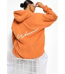 woman acid wash gebleekte oversized hoodie met rugopdruk, rust