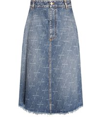 denim rok met logo