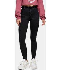 washed black belt loop joni skinny stretch jeans - washed black