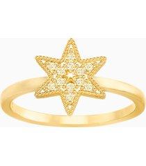 anello field star, dorato, placcatura oro