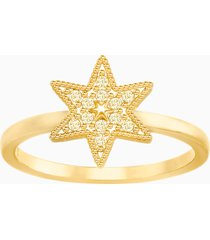 anello field star, dorato, placcatura oro