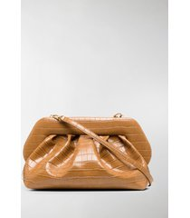 themoirè bios basic croco clutch