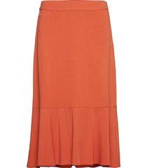 fiona skirt knälång kjol orange soft rebels