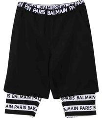 balmain double layer shorts