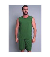 pijama mvb modas  curto adulto camiseta verde