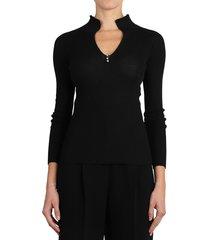 lanvin black arpege sweater