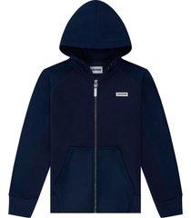 converse sudadera con capucha con cremallera completa de tejido knit blue